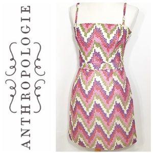 Anthropologie Beth Bowley Chevron Dot Dress